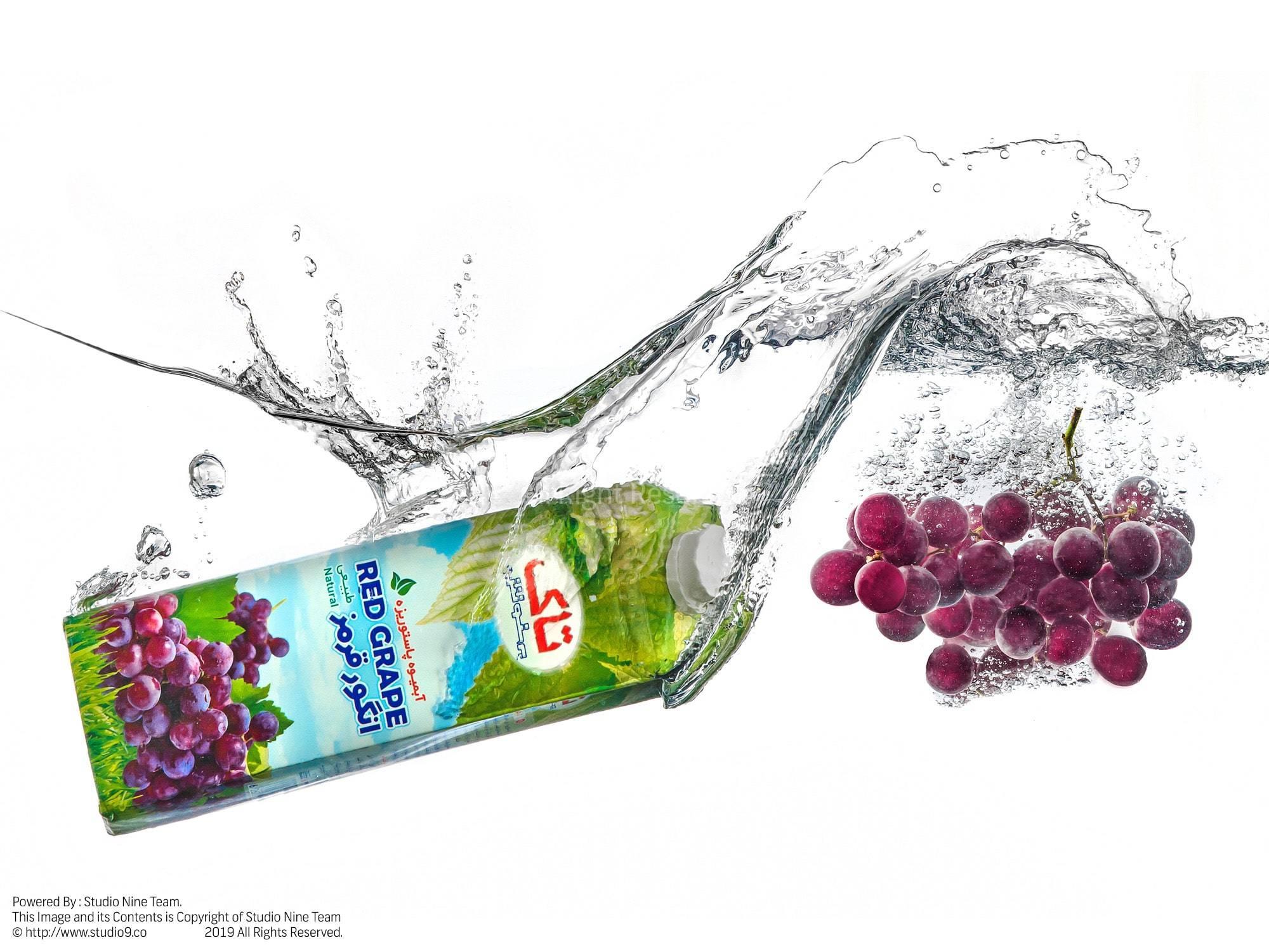 عکس تبلیغاتی محصولات بهنوش | آبمیوه انگور قرمز تاک بهنوش