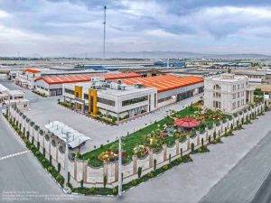 عکاسی هوایی از محیط و فضای کارخانه تولیدی