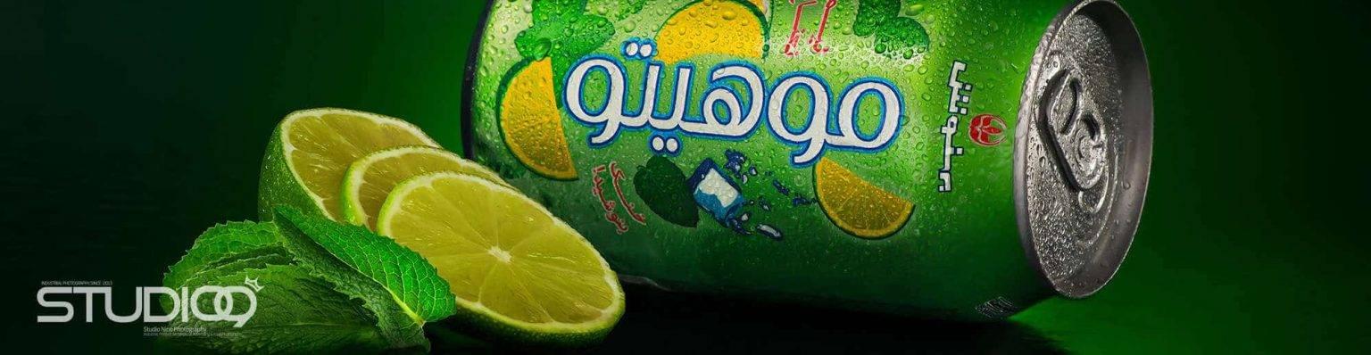 شرکت بهنوش ایران | عکاسی صنعتی | عکاسی تبلیغاتی | عکاسی غذایی تبلیغاتی | نوشابه گازدار موهیتو بهنوش