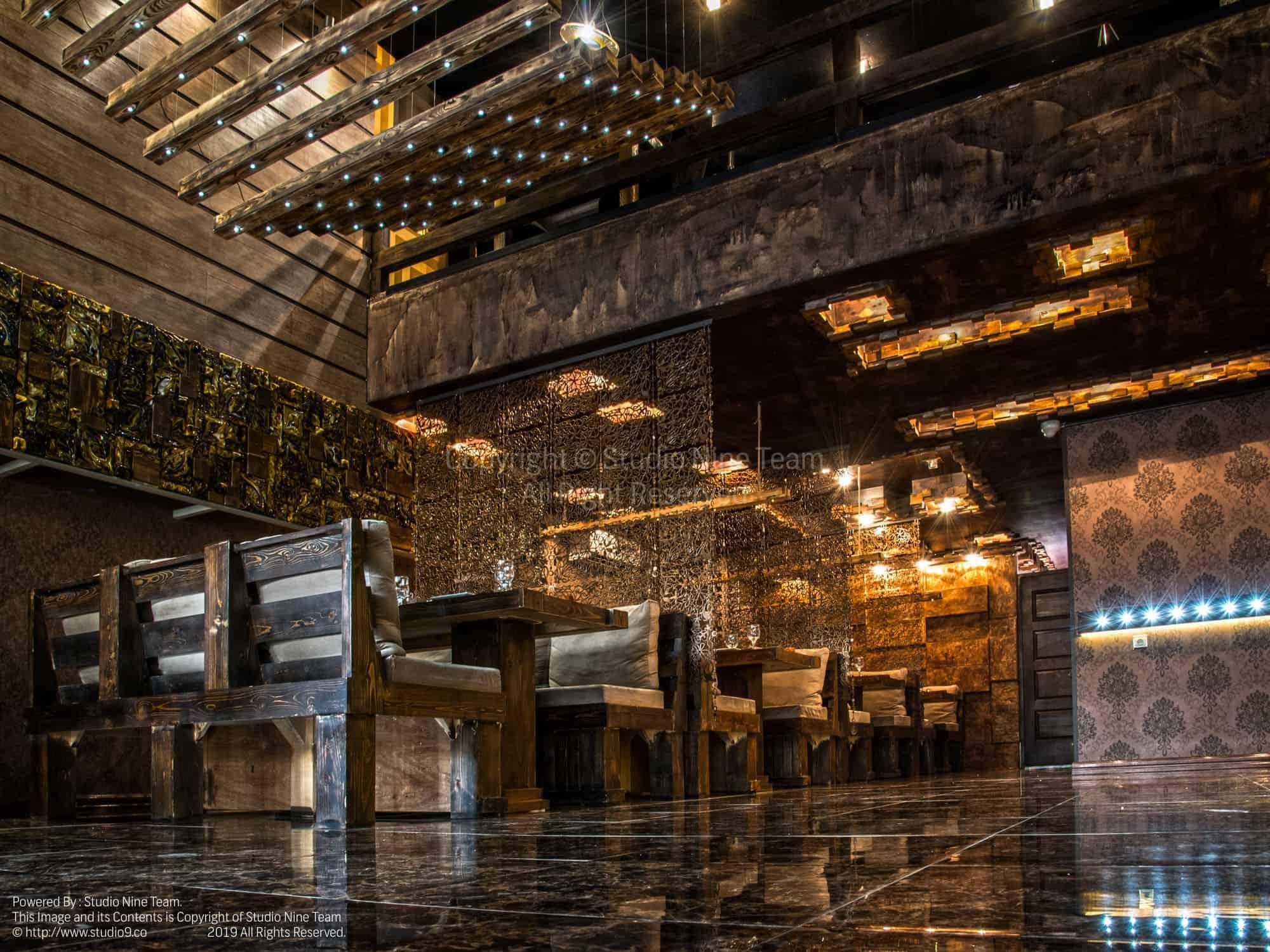 تنظیم رنگ تخصصی خروجی چاپ حرفه ای | عکاسی رستوران بیزانس | عکاسی معماری