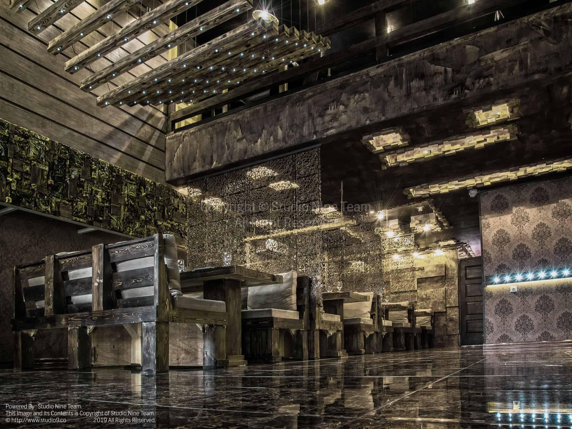 تنظیم رنگ تخصصی خروجی چاپ حرفه ای | تنظیم رنگ عکس معماری رستوران بیزانس | تعرفه عکاسی معماری | عکاسی رستوران