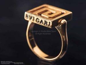 عکاسی طلا جواهر | عکاسی زیورآلات | عکاسی تبلیغاتی | طلا | جواهر | انگشتر طلا | انگشتر بولگاری BVLGARI | استودیو عکاسی ناین