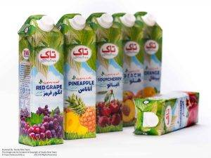 عکاسی تبلیغاتی شرکت بهنوش ایران | عکاسی بسته بندی | عکاسی تبلیغاتی محصول | عکاسی غذایی | آبمیوه های تاک بهنوش