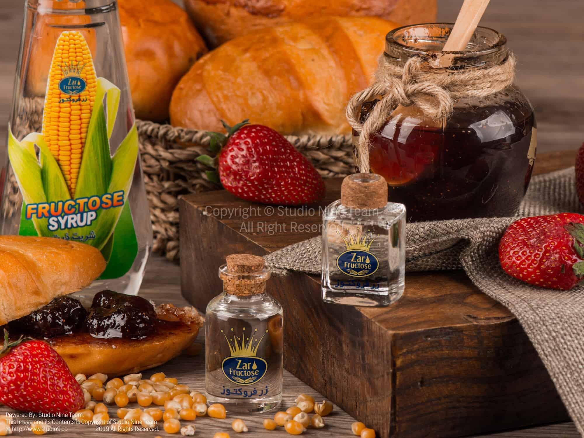 عکاسی تبلیغاتی و دکوراتیو | عکاسی غذایی | عکاسی تبلیغاتی محصولات شرکت زر فروکتوز در استودیو ناین